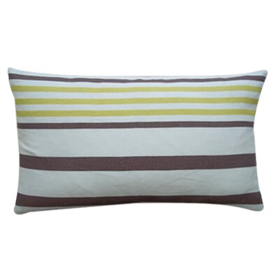 Ribbon Linen Lumbar Pillow Color: Lemon