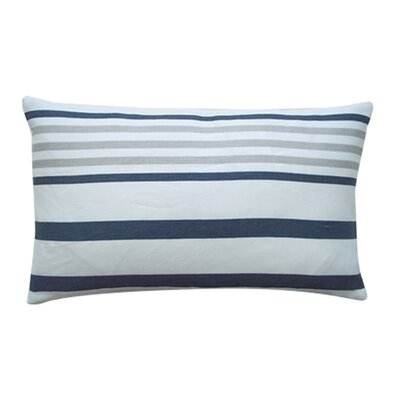 Ribbon Linen Lumbar Pillow Color: Pewter