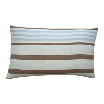 Ribbon Linen Lumbar Pillow Color: Sky