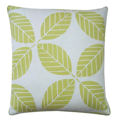 Tiki Leaves Linen Throw Pillow Color: Lemon