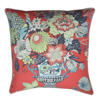Royalty Cotton Throw Pillow Color: Red