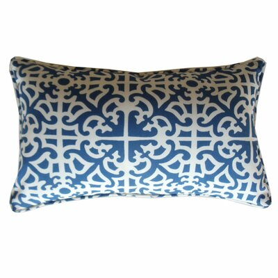 Malibu Lumbar Pillow Color: Blue