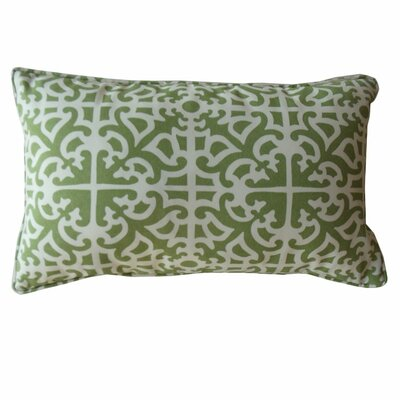 Malibu Lumbar Pillow Color: Green