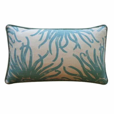 Anemona Cotton Lumbar Pillow Color: Blue