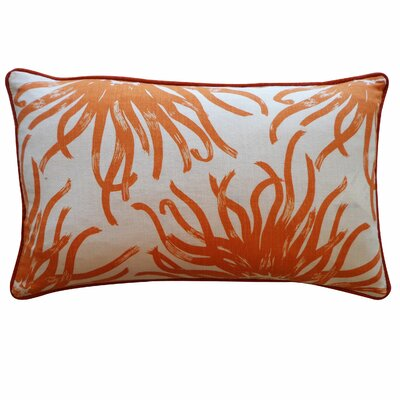 Anemona Cotton Lumbar Pillow Color: Orange