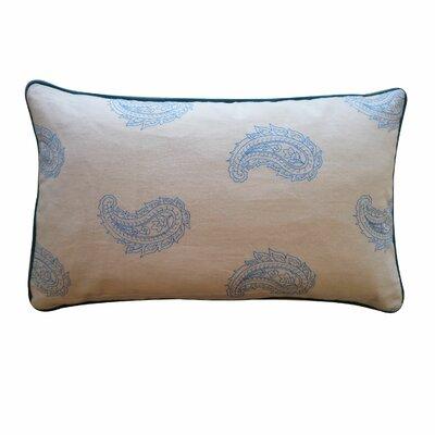 Angela Cotton Lumbar Pillow Color: Blue