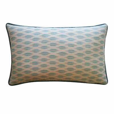 Arrow Cotton Lumbar Pillow Color: Aqua