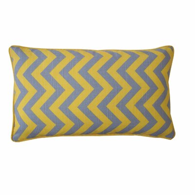 Barbara Zig Zag Cotton Lumbar Pillow Size: 12 x 20, Color: Yellow