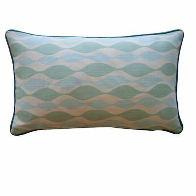 Dylan Cotton Lumbar Pillow Color: Aqua