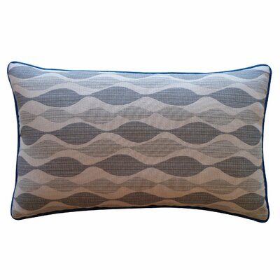 Dylan Cotton Lumbar Pillow Color: Grey