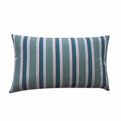 Funstripes Linen Lumbar Pillow Color: Green, Size: 12 x 20