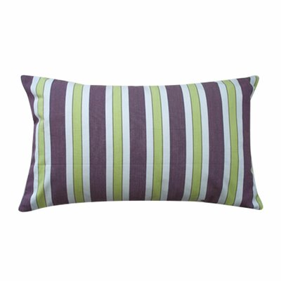 Funstripes Linen Lumbar Pillow Size: 12 x 20, Color: Purple
