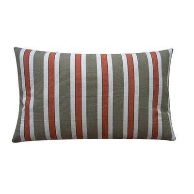Fun Stripe Cotton Lumbar Pillow Color: Red