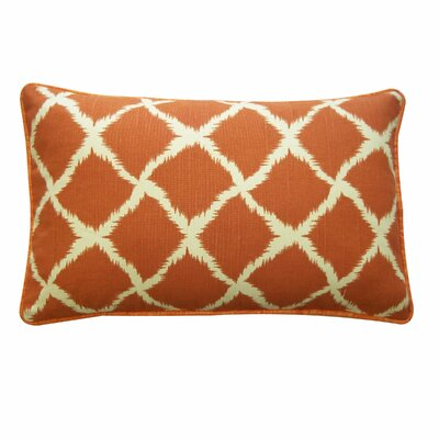Net Cotton Lumbar Pillow Color: Orange