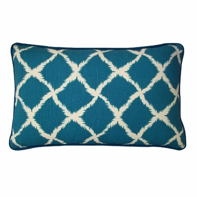 Net Cotton Lumbar Pillow Color: Teal