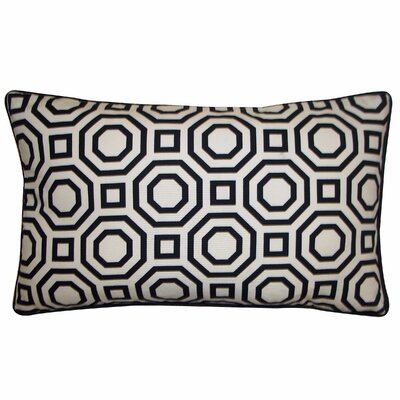 Labyrinth Cotton Lumbar Pillow Color: White