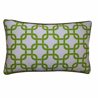 Links Cotton Lumbar Pillow Color: Green