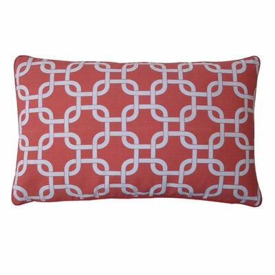 Links Cotton Lumbar Pillow Color: Peach