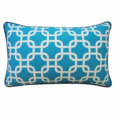 Links Cotton Lumbar Pillow Color: Teal