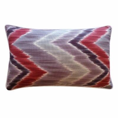 Mountain Cotton Lumbar Pillow Color: Berry