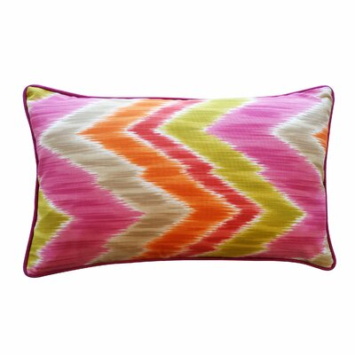 Mountain Cotton Lumbar Pillow Color: Pink