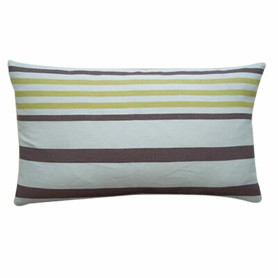 Ribbon Cotton Lumbar Pillow Color: Lemon