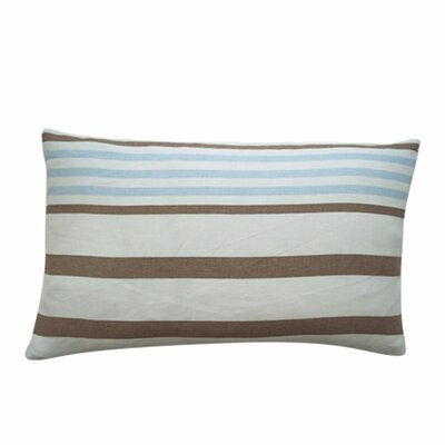 Ribbon Cotton Lumbar Pillow Color: Sky Blue