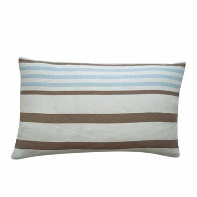 Ribbon Cotton Lumbar Pillow Color: Sky Blue