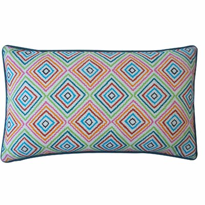 Cotton Lumbar Pillow Color: Blue