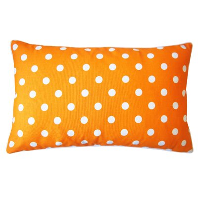 Dot Cotton Lumbar Pillow Color: Orange