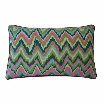 Ikat Cotton Lumbar Pillow Color: Pink