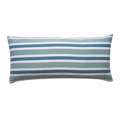 Funstripes Linen Lumbar Pillow Size: 12 x 26, Color: Green