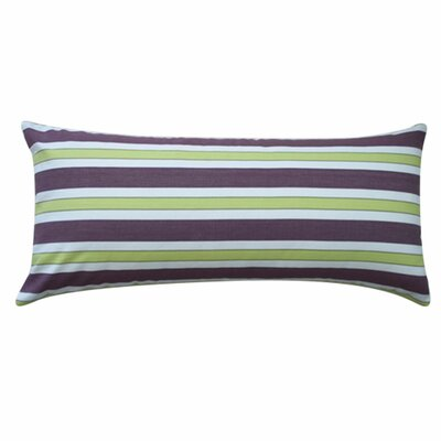Fun Stripe Cotton Lumbar Pillow Color: Purple