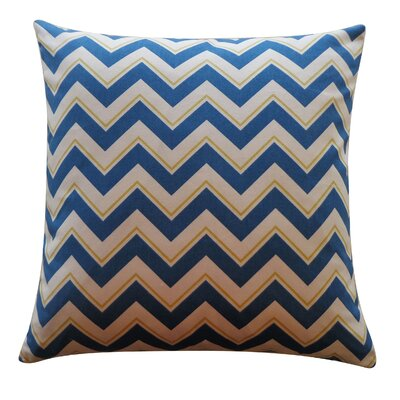Alberta Cotton Throw Pillow Color: Blue