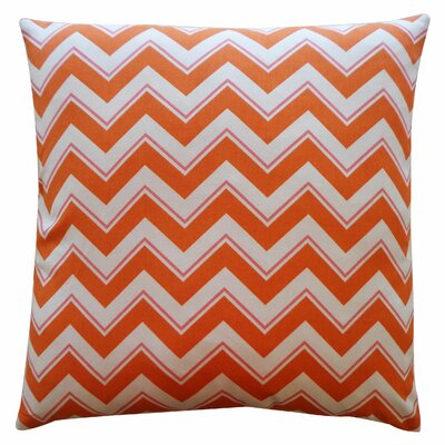 Alberta Cotton Throw Pillow Color: Orange