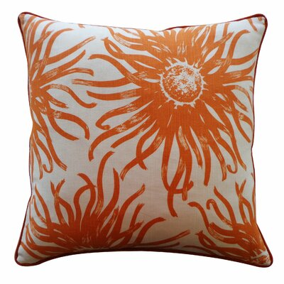Anemona Cotton Throw Pillow Color: Orange