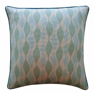 Dylan Cotton Throw Pillow Color: Aqua