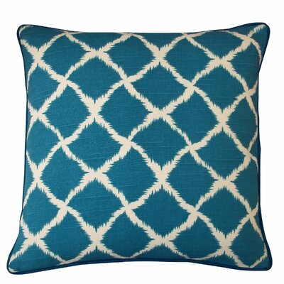 Net Cotton Throw Pillow Color: Teal