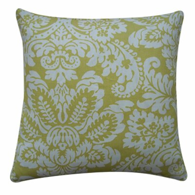 Hibiscus Linen Throw Pillow Color: Lemon, Size: 20 x 20