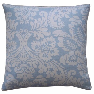 Hibiscus Linen Throw Pillow Color: Sky, Size: 20 x 20