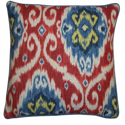 Kyllini Cotton Throw Pillow Size: 20 x 20, Color: Red