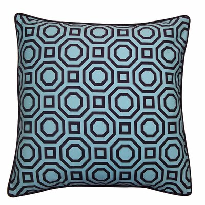 Labyrinth Cotton Throw Pillow Color: Blue