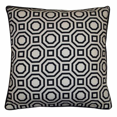 Labyrinth Cotton Throw Pillow Color: White