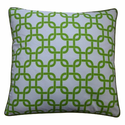Links Cotton Throw Pillow Color: Green