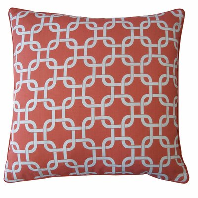 Links Cotton Throw Pillow Color: Peach