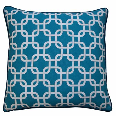 Links Cotton Throw Pillow Color: Teal