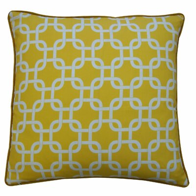 Links Cotton Throw Pillow Color: Yellow