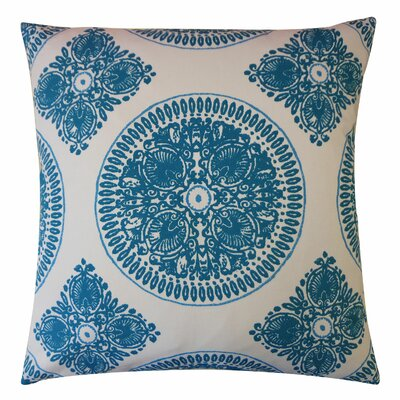 Medallion Cotton Throw Pillow Color: Teal, Size: 20 H x 20 W