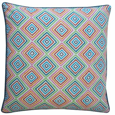 Square Throw Pillow Color: Blue