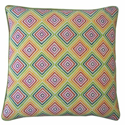 Square Throw Pillow Color: Green